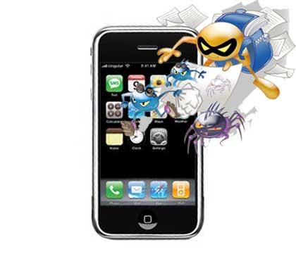 ilustrasi Virus Iphone ©geeko.lesoir.be