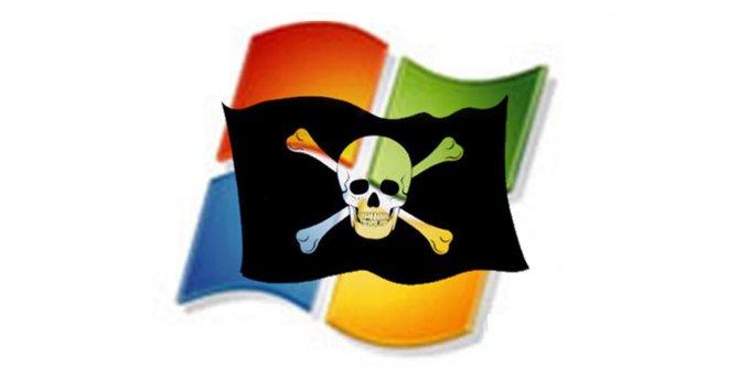 Ilustrasi Windows bajakan